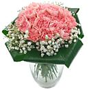 a small image of our 2 dozen pink carnations bouquet