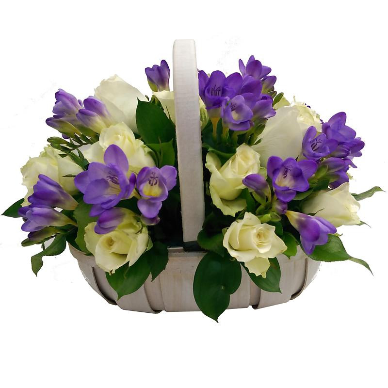 Amethyst Flower Basket