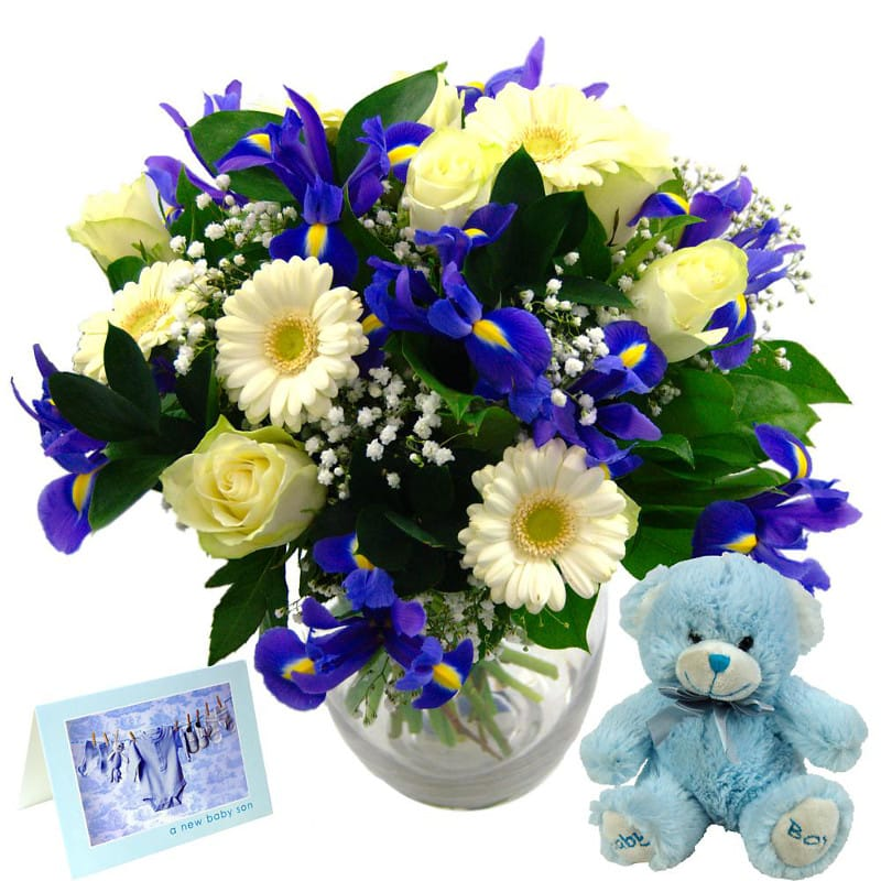 Baby Boy Flower Gift Set half price special offer on subscriptions.