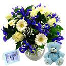 Baby Boy Flower Gift Set