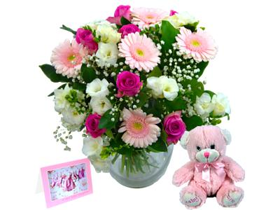 Baby girl flower gift set free delivery baby girl flower gift set negle Images