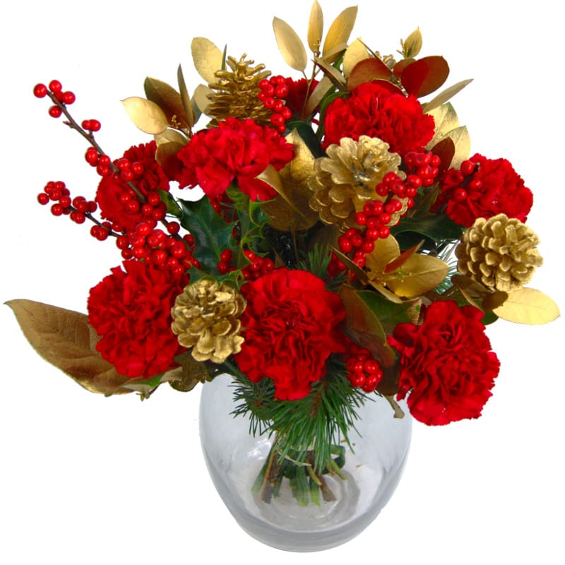 christmas cracker flower bouquet