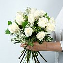 Dozen White Roses – fresh flowers for UK delivery by post – bouquets and arrangements from Clare Florist