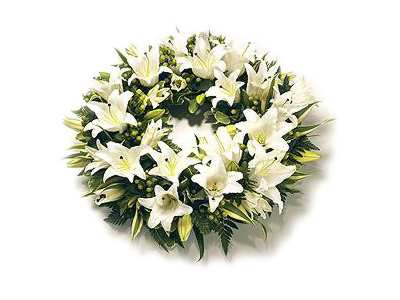 Lily Wreath half price special offer on subscriptions.