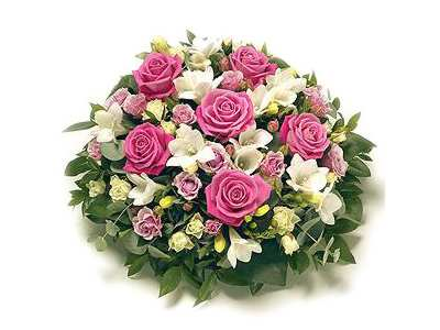 Pink and White Posy half price special offer on subscriptions.
