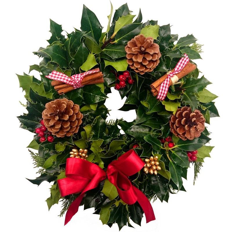 how to make a fresh flower christmas wreath