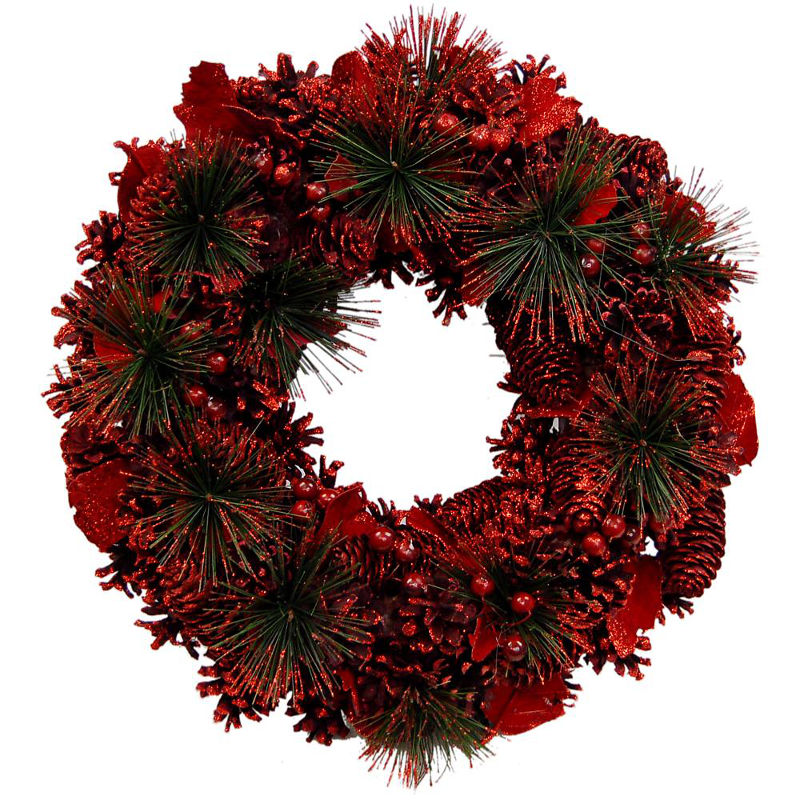Festive Joy Christmas Wreath