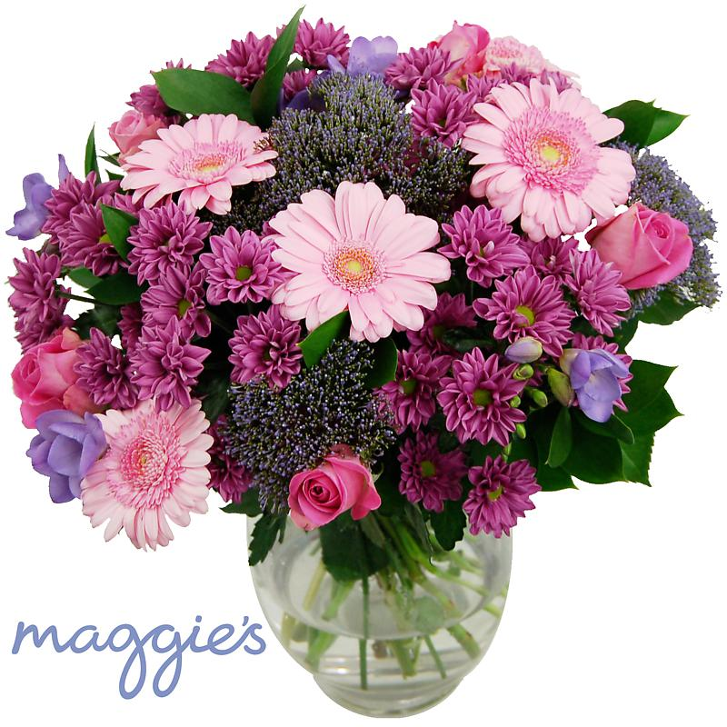 maggie 39 s pink maggie 39 s charity bouquet delivered with. Black Bedroom Furniture Sets. Home Design Ideas