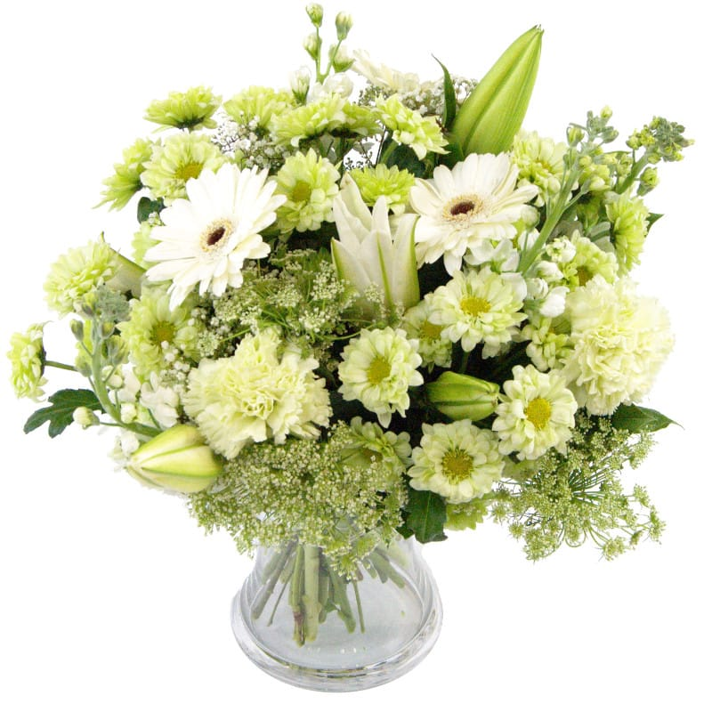 Fresh White Flower Bouquet Send White Germini Lily And Rose