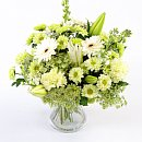 A full view of Fresh White Flowers, an arrangement of fresh summer flowers available now for next-day delivery from Clare Florist