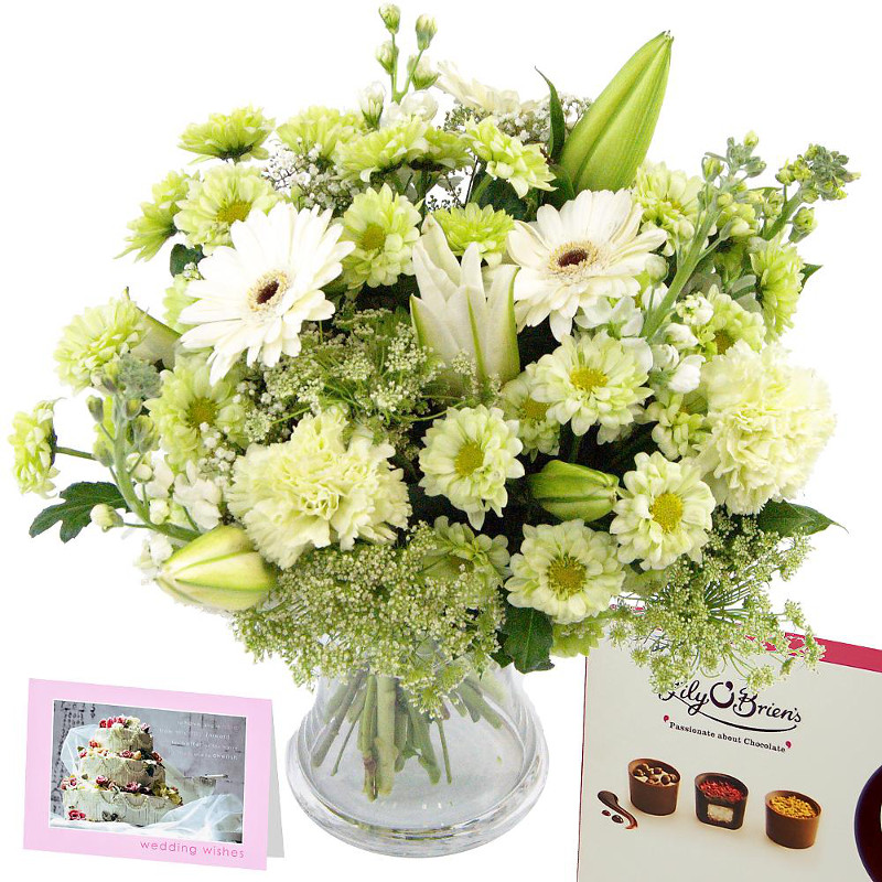 Send Wedding Congratulations For Uk Flower Delivery From Clare Florist