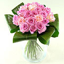 Grace - Pink Roses – fresh flowers for UK delivery by post – bouquets and arrangements from Clare Florist