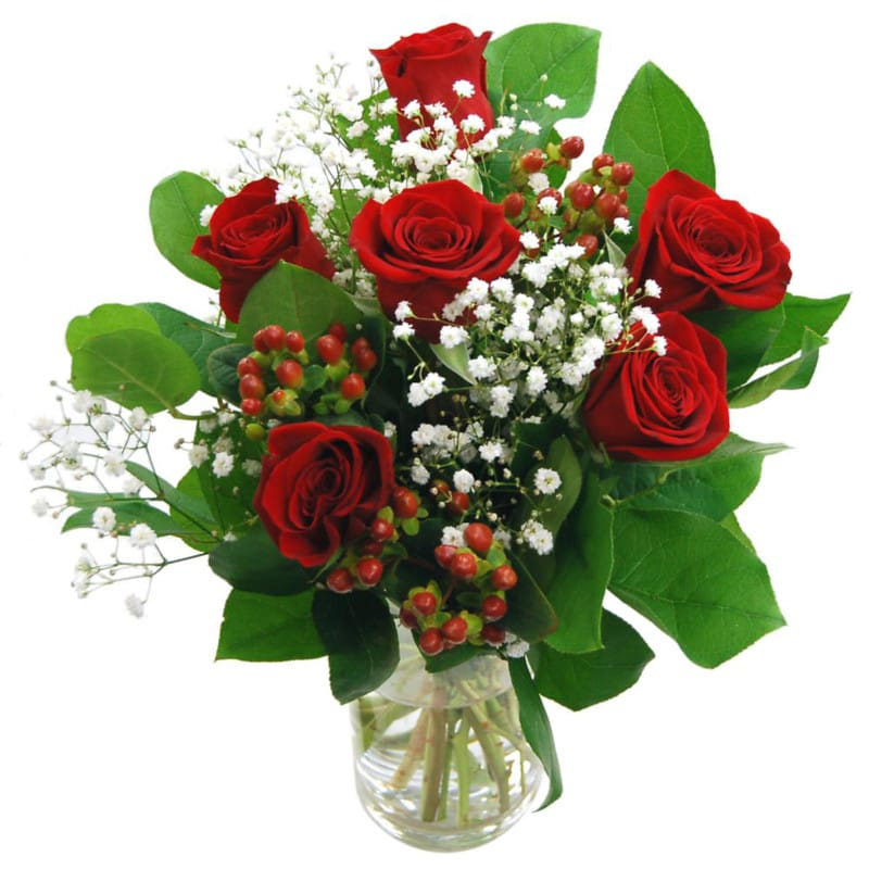Heartfelt 6 Red Rose Bouquet