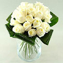 Innocence - white roses – fresh flowers for UK delivery by post – bouquets and arrangements from Clare Florist