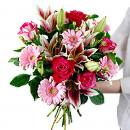 Luxury Pink Bouquet – fresh flowers for UK delivery by post – bouquets and arrangements from Clare Florist