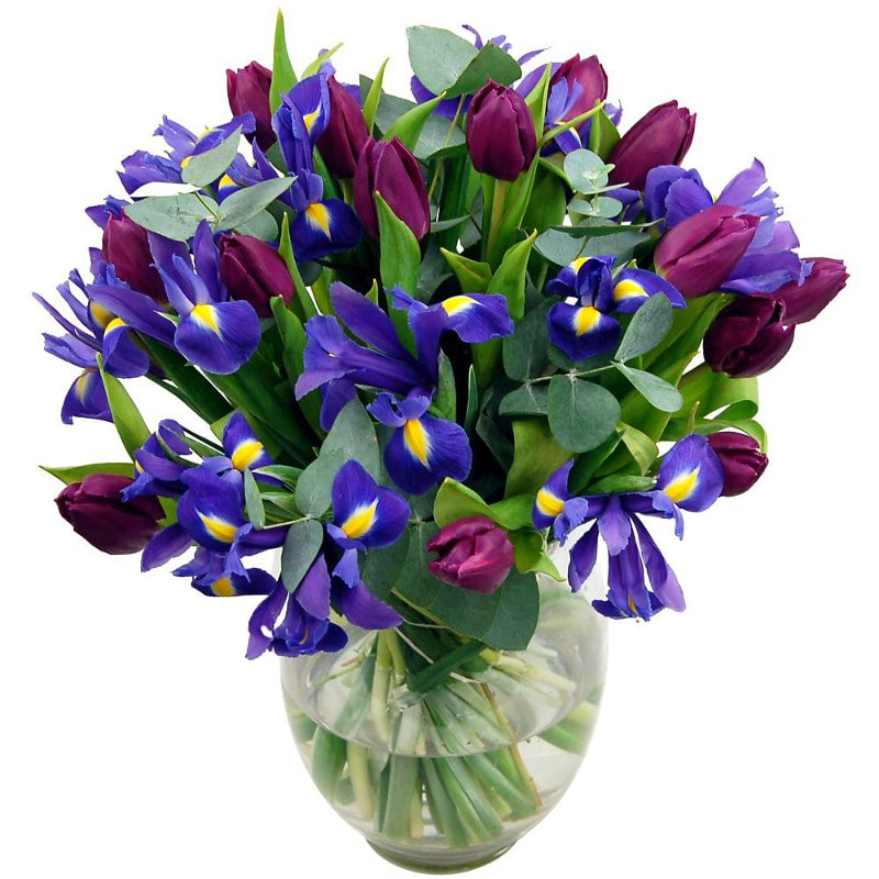 Midnight Iris Bouquet by Clare Florist