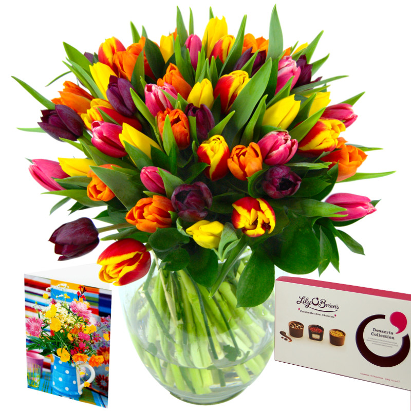 Mixed Tulips Gift Set