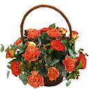 Morning Glow Rustic Flower Basket
