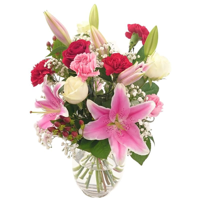Oriental Charm Fresh Flower Bouquet | Exotic Lilies and Carnations ...