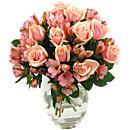 Peach Rosmeria Bouquet