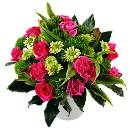 Pink Fizz contemporary bouquet – fresh flowers for UK delivery by post – bouquets and arrangements from Clare Florist