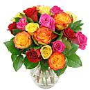 Rainbow Roses – fresh flowers for UK delivery by post – bouquets and arrangements from Clare Florist