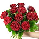 Dozen Valentine's Red Roses – fresh flowers for UK delivery by post – bouquets and arrangements from Clare Florist