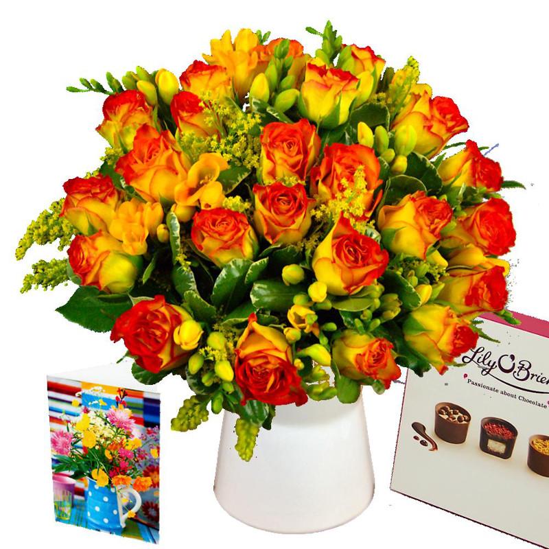 Rose and Freesia Gift Set