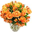 Orange Rosmeria Bouquet