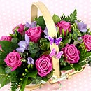 Flower Basket – fresh flowers for UK delivery by post – bouquets and arrangements from Clare Florist