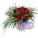 Twelve Red Roses – fresh flowers for UK delivery by post – bouquets and arrangements from Clare Florist