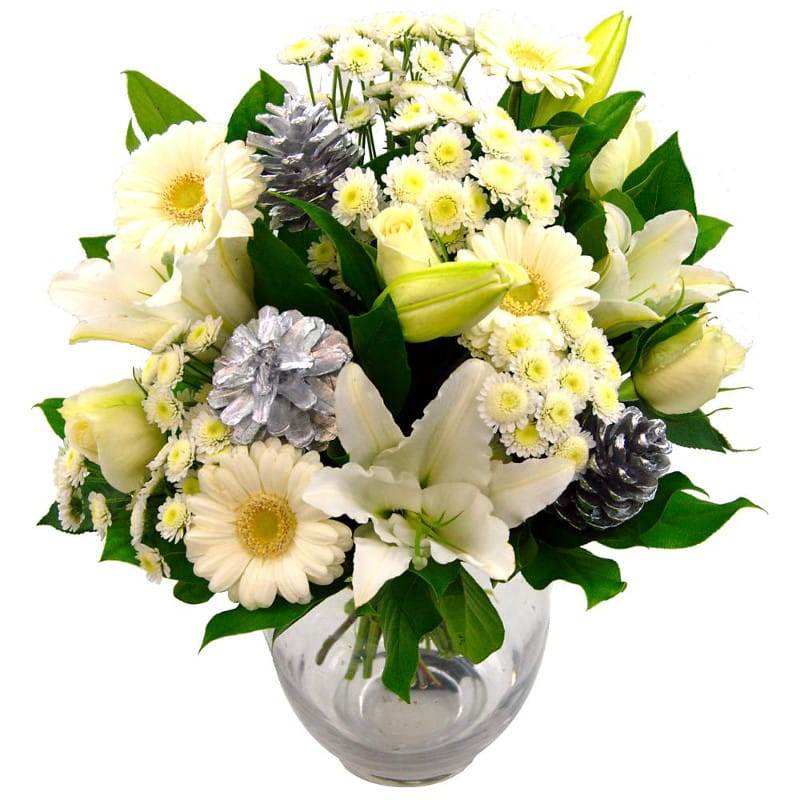 Snow white christmas flower delivery for from