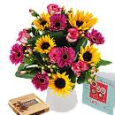 Spring Sensation Gift Set – fresh flowers for UK delivery by post – bouquets and arrangements from Clare Florist