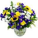 A fitting bouquet for spring. Spring time meadow an arrangement of fresh flowers available now for next-day free delivery from Clare Florist