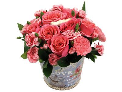 strawberry fields bouquet by clare florist
