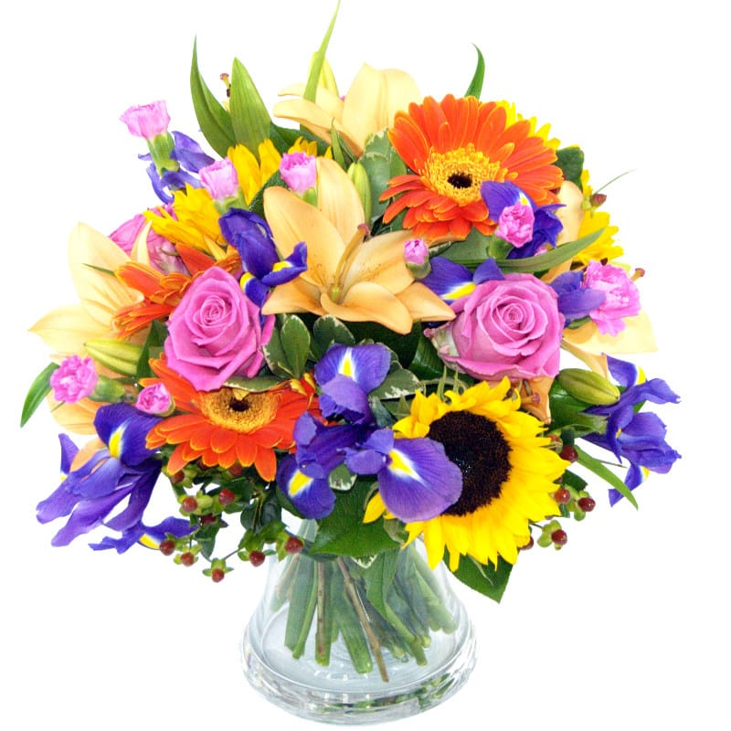 Indian Summer Bouquet Fresh Roses And Lily Flowers For