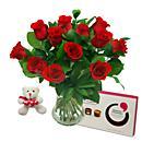An elegant arrangement of 12 red roses