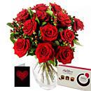Twelve Red Roses Gift Set