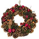 a small image of our yuldetide wreath, order this festive wreath for christmas with clare florist