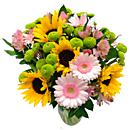 The Sunflower and Germini Delight Bouquet will make anyone's day!