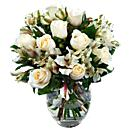White Rosmeria Bouquet