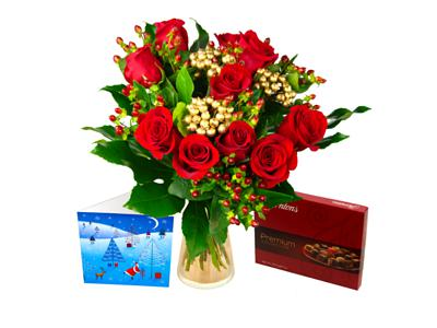 order christmas rose gift set