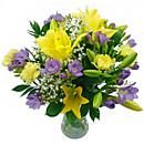The Freesia and Lily Bouquet - The colour and scent of summer!