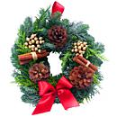 The Festive Fresh Pine Wreath will add festive cheer and joy to any door it comes to adorn this holiday seasons.