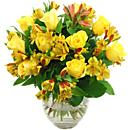 Yellow Rosmeria Bouquet