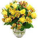 Yellow Rosmeria Bouquet