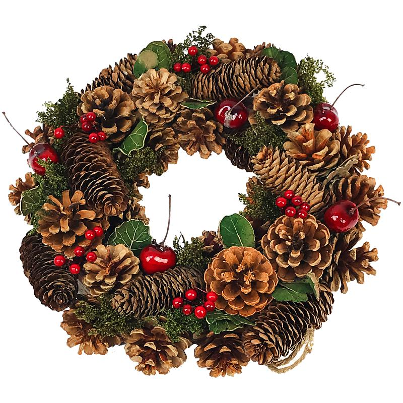 Yuletide Cone Christmas Wreath