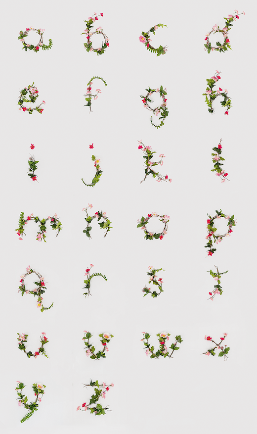 The full alphabet from Anne Lee's remarkable project