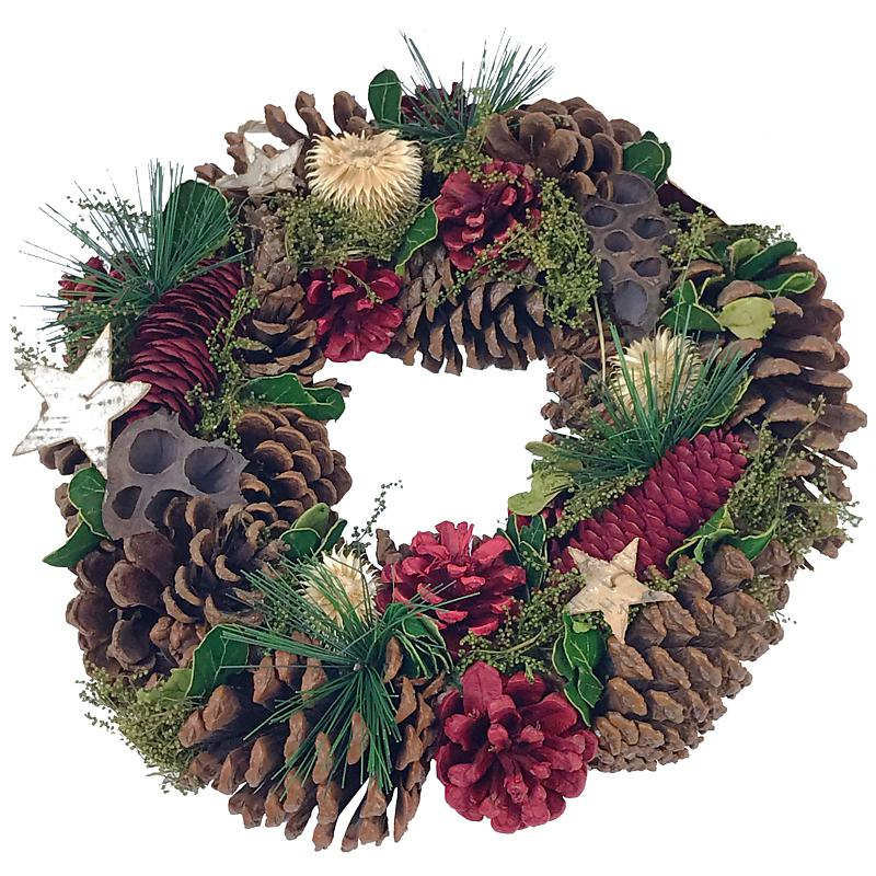 Starry Night Christmas Wreath
