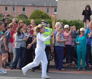 Photos: Olympic Torch Relay comes past ClareFlorist!